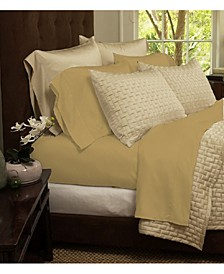 Luxury Home Rayon and Microfiber Bed Sheets Set - King