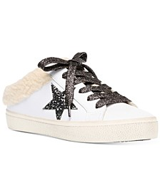 Women's Polaris Faux-Fur Backless Sneakers