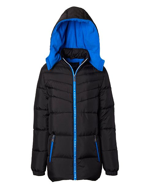 Perry Ellis Little Boys Quilted Puffer with Logo Taping