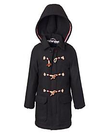 Little Boys Duffle Americana Trim Coat