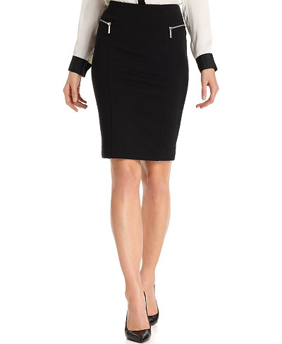 MICHAEL Michael Kors Zip-Pocket Pencil Skirt - Skirts - Women - Macy's