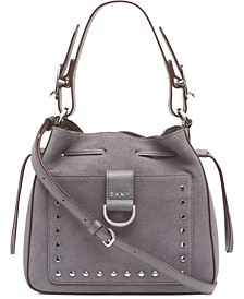 Wayne Leather Drawstring Bucket Bag