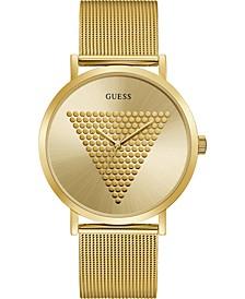 Men's Gold-Tone Stainless Steel Mesh Bracelet Watch 44mm