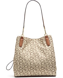 Elaine Logo Leather Tote