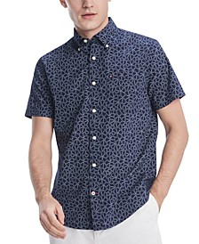 Men's Custom-Fit Parker Floral Short Sleeve Shirt