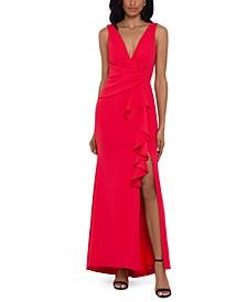 Cascade-Ruffle Gown