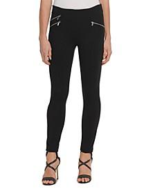 Zippered-Pocket Skinny Pants