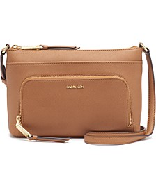 Lily Saffiano Leather Crossbody