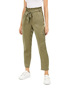 Elastic-Waist Belted Pants, Created for Macy's