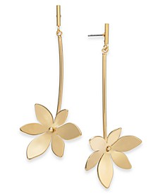 Gold-Tone Flower Drop Earrings, Created for Macy's