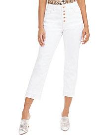 INC Curvy Double-Hem Ankle Jeans, Created for Macy's