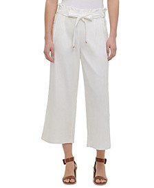 Tie-Belt Pull-On Pants