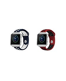 Unisex Fitbit Blaze Assorted Silicone Watch Replacement Bands - Pack of 2