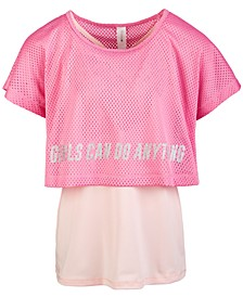 Big Girls Twofer Mesh T-Shirt, Created for Macy's