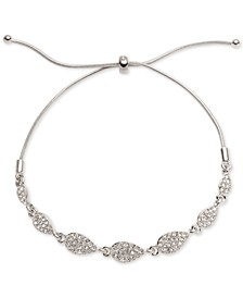 Pavé Pear-Shape Slider Bracelet