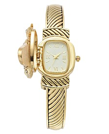 Women's Gold-Tone Bee Cover Bracelet Watch 25mm, Created for Macy's