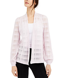 Alfani Illusion Plaid Cardigan, Created for Macy's