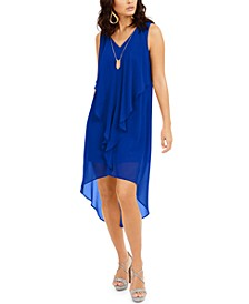 Ruffled High-Low Necklace Dress, Created for Macy's