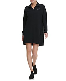 Sport Half-Zip Logo Dress