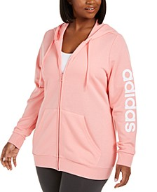 Plus Size Logo-Print Zip-Up Hoodie