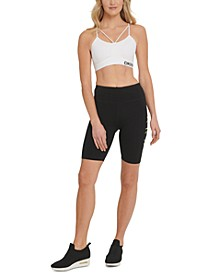 Sport Logo High-Waist Bike Shorts
