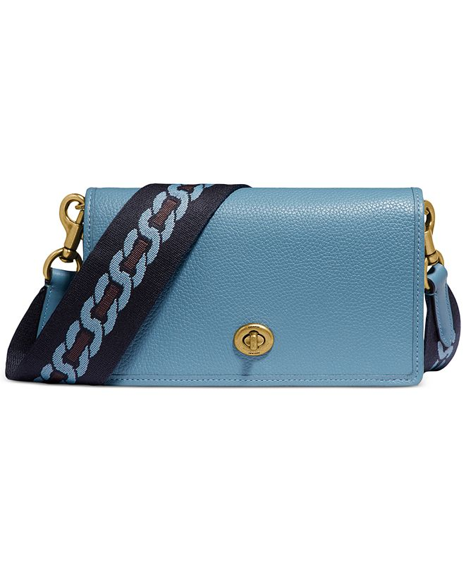 COACH Hayden Leather Crossbody with Webbed Strap