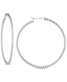 Medium Ball Hoop Earrings, 1-3/4""