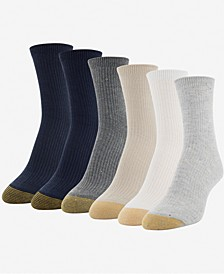 Women's 6-Pk. Lola Nep Rib Short Crew Socks