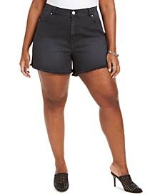 Trendy Plus Size Frayed Shorts