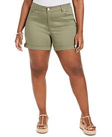 Trendy Plus Size Cuffed Shorts