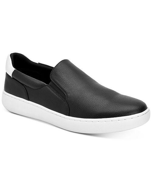 Calvin Klein Men's Fortun Tumbled Smooth Slip-on Sneakers