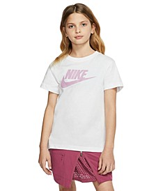 Big Girls Cotton Logo-Print T-shirt