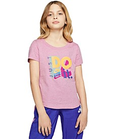 Big Girls Cotton Just Do It T-Shirt