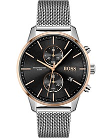 Men's Chronograph Associate Stainless Steel Mesh Bracelet Watch 42mm