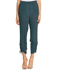 Ruched Printed Pants