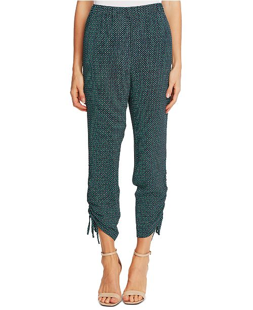 CeCe Ruched Printed Pants
