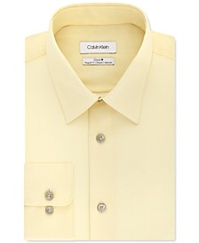 Calvin Klein Men's Steel+ Classic-Fit Lemon Glaze Check Dress Shirt