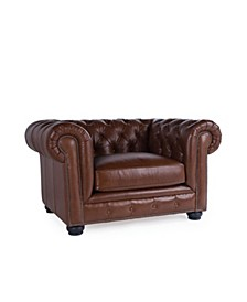 Alexandon Leather Chesterfield Chair
