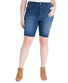 Trendy Plus Size Adored Slim-Fit Bermuda Jean Shorts