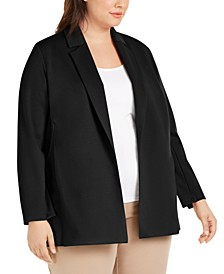 Plus Size Notched-Collar Jacket