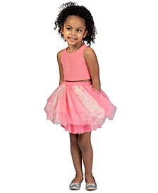 Toddler Girls 2-Pc. Shimmer Top & Tutu Skirt Set