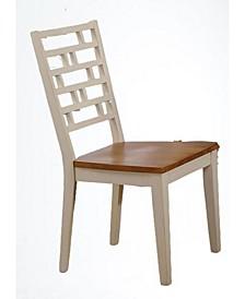 Designer Back Side Chair, Set of 2