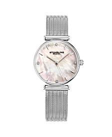 Women's Silver Tone Mesh Stainless Steel Bracelet Watch 32mm