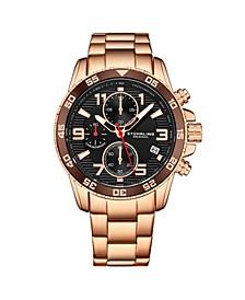 Men's Rose Gold Stainless Steel Bracelet Watch 40mm