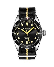 Men's Black Nylon Strap Watch 41mm