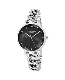 Women's Silver Tone Stainless Steel Bracelet Watch 38mm