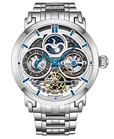 Men's Silver Tone Stainless Steel Bracelet Watch 47mm