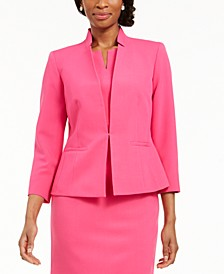 Star-Collar Kiss-Front Blazer