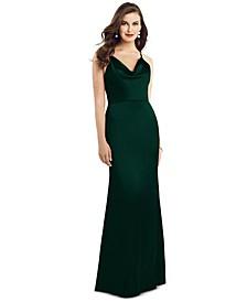 Cowlneck Sleeveless Maxi Dress