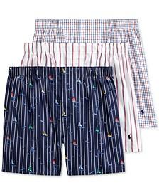 폴로 랄프로렌 속옷 하의 3세트 Polo Ralph Lauren Mens Classic-Fit boxer,Sail Print/boat Stripe/sail Plaid
